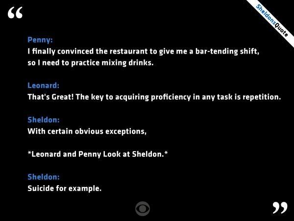 Sheldon Cooper randki cytaty