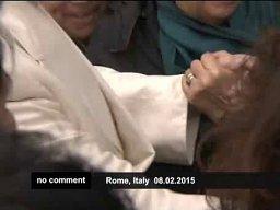Papież Franciszek odwiedził cygański obóz