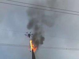 Chiński dron z miotaczem ognia znowu w akcji
