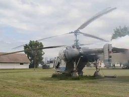 Nie diesel, ale ruski helikopter też musi dymić