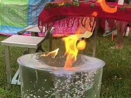Fontanna z ogniem