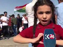 """Mała Kurdyjka prosi o zatrzymanie tureckiego ataku """"Proszę, proszę zatrzymajcie tę wojnę"""""""