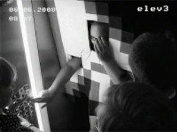 Człowiek Kursor - winda